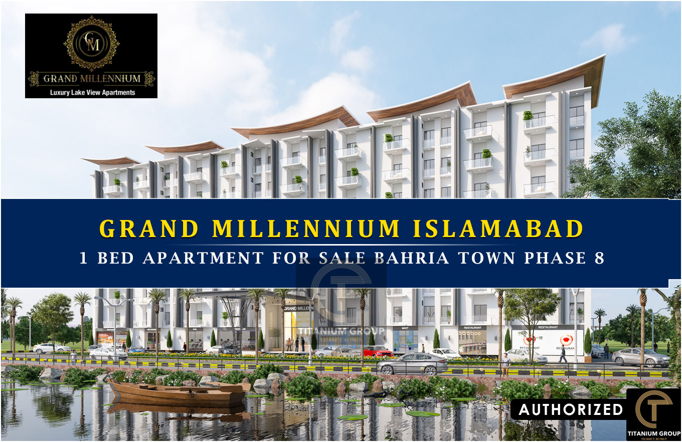Grand Millennium Islamabad 1 Bed Apartment for sale Bahria Town Phase 8