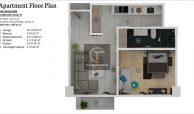 Grand Millennium Islamabad Apartment Floor Plan one bedroom