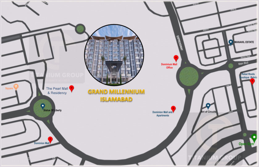 Grand Millennium Islamabad Location