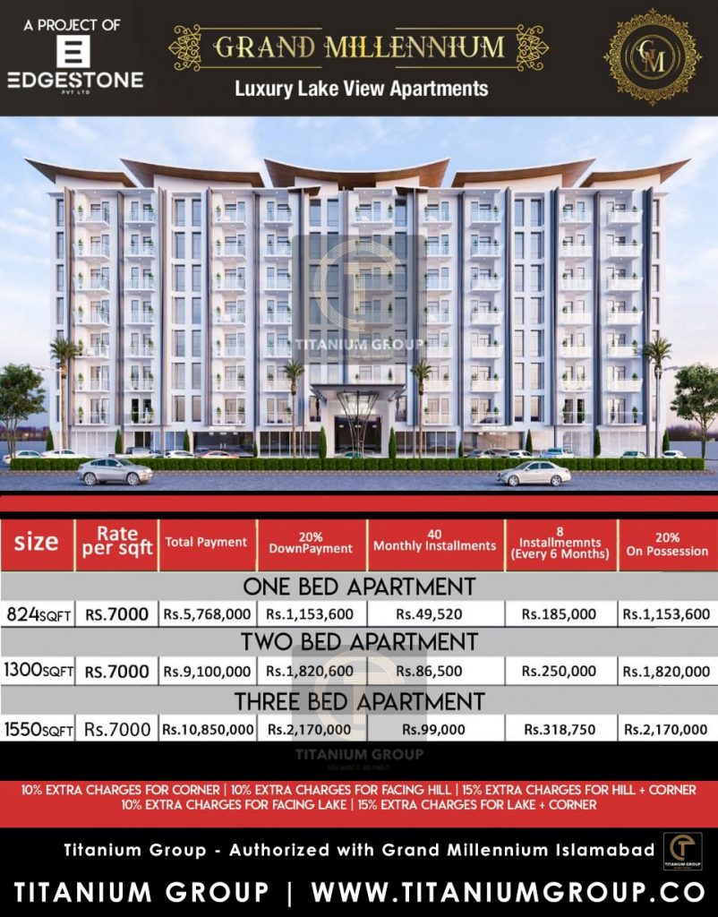 Grand Millennium Islamabad Payment Plan