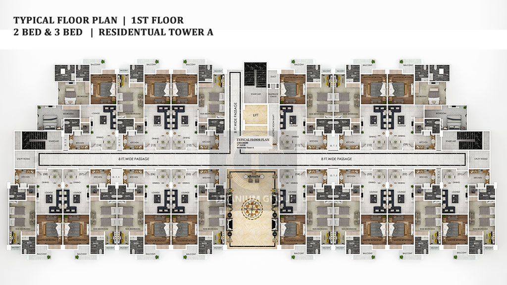 Grand Millennium Islamabad Typical Floor Plan 1st Floor