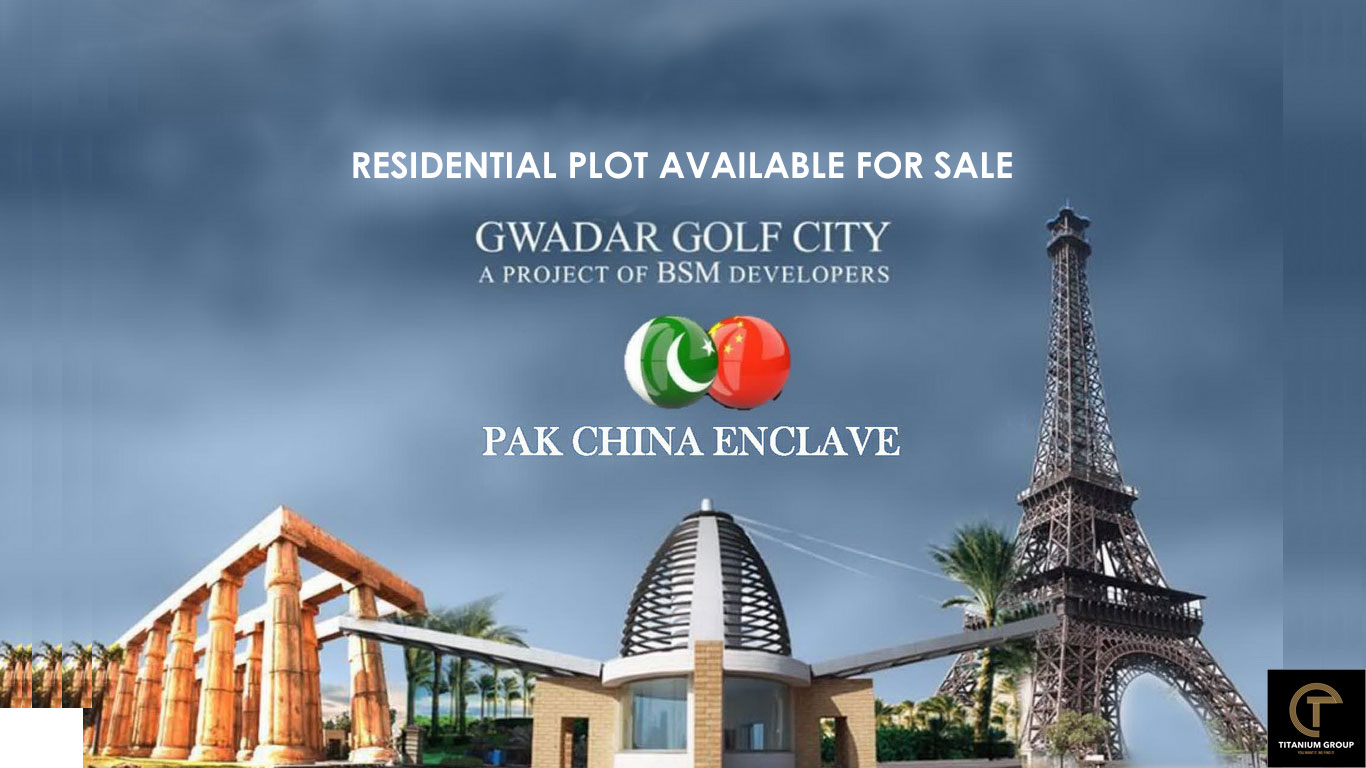 Gwadar Golf City Pak China Enclave Residential Plot Available For Sale