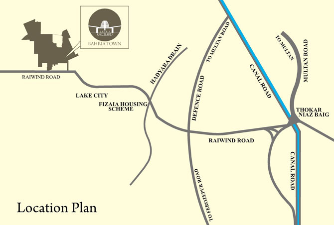location plan of bahria orchard lahore