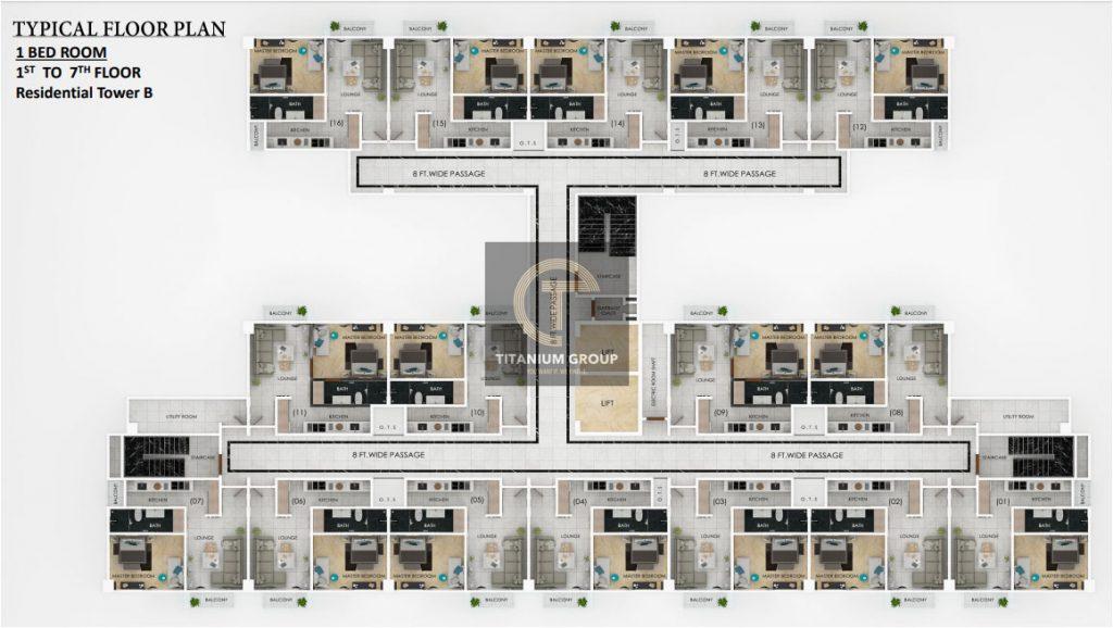 Typical Floor Plan one bed room 1st 2nd Floor