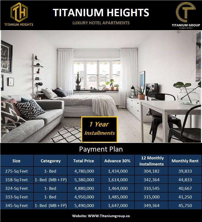 Titanium heights payment plan
