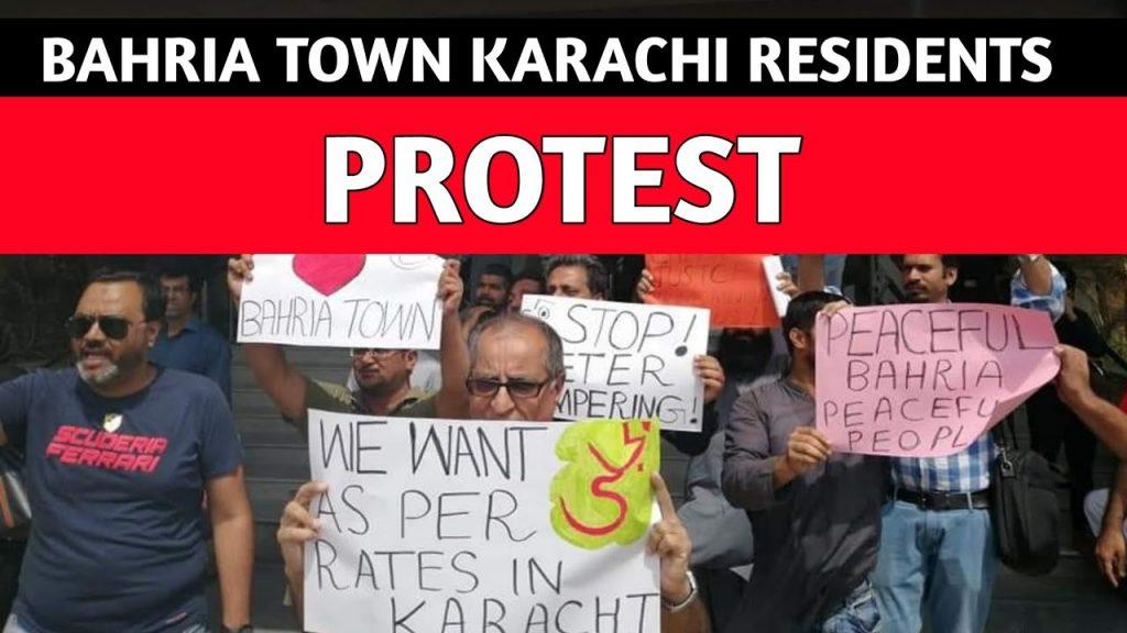 Bahria town karachi protest